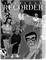 November - American Recorder Society
