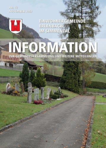 November 2012 - Erlenbach im Simmental