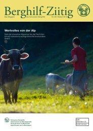Download PDF: Berghilf-Ziitig Herbst 2010 - Schweizer Berghilfe