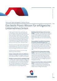 Das beste Praxis-Wissen für erfolgreiche Unternehmer ... - Swisscom