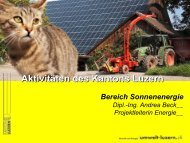 Beispiele von Solaranlagen für Wärme und Strom - ENERGIE ...