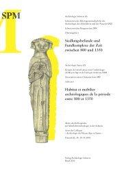 Städtische Siedlungen - Archäologie Schweiz