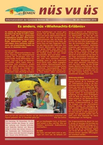 nüs vu üs Nr. 20 (Nov 2010) [PDF - Benken