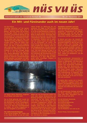 nüs vu üs Nr. 24 (Nov 2011) [PDF - Benken