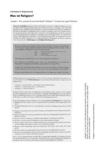 Arbeitsblatt 1