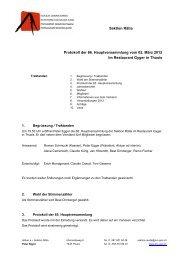 Sektion Rätia Protokoll der 66. Hauptversammlung vom 02. März ...