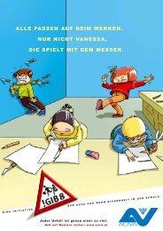 Themenposter Vanessa Gib Acht in der Schule