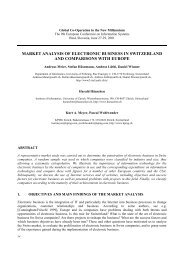 Market Analysis of Electronic Business in Switzerland and - LSE ...
