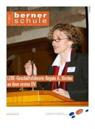 LEBE-Geschäftsführerin Regula A. Bircher an ihrer ersten DV