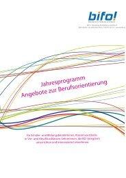 Jahresprogramm Angebote zur Berufsorientierung