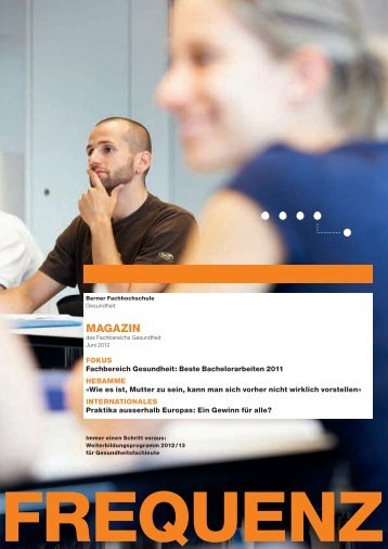 vorliegende Heft - Gesundheit - Berner Fachhochschule