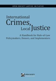 International Crimes, Local Justice - Open Society Foundations