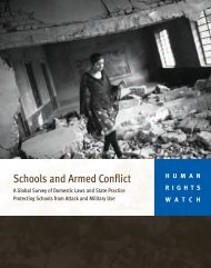 Schools and Armed Conflict - Human Rights Watch