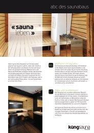 ABC des Saunabaus (PDF) - KÜNG AG Saunabau, Wädenswil ...
