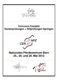 Programmheft CC Pfingsten 12x - Nationales Pferdezentrum Bern