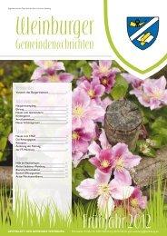 Frühjahr 2012 - Gemeinde Weinburg