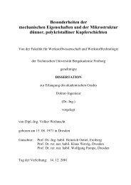 Besonderheiten der mechanischen Eigenschaften und der ...