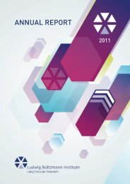 Annual Report 2011 - Ludwig Boltzmann Institute Lung Vascular ...