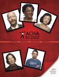 2 011 ANNUAL REPORT - Adult Congenital Heart Association