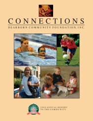 Annual Report 2009.indd - Dearborn Community Foundation