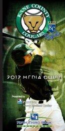 2012 Media Guide (PDF - 7.5 meg) - Kane County Cougars