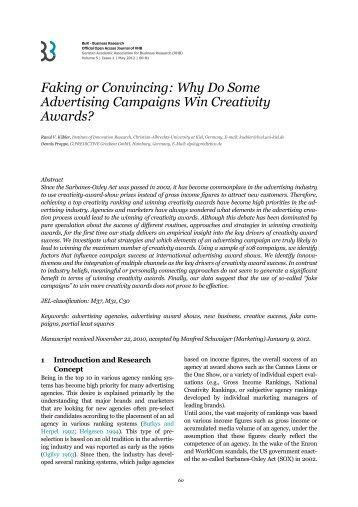 Faking or Convincing - BuR - Business Research