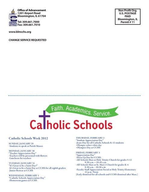 Jan/Feb 2012 - Central Catholic High School