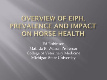 Overview of EIPH