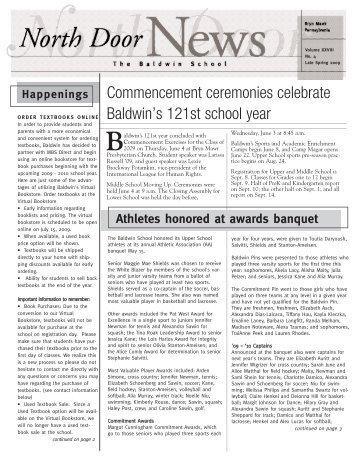 Commencement ceremonies celebrate Baldwin's ... - Baldwin School