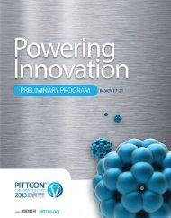 pittcon 2013 technical program