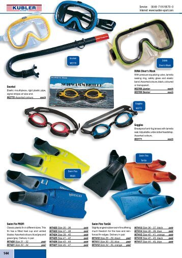 Catalogue for Sports Equipment - Tera Impex SRL