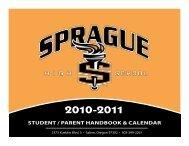 student / parent handbook & calendar - Sprague High School