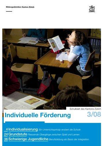 Ausgabe 3/2008 (PDF, 4 MB) - Bildungsdirektion - Kanton Zürich