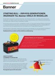 STARTING BULL DEN NYA GENERATIONEN. Ing