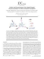 Synthesis and Characterizations of Star-Shaped Octupolar ...