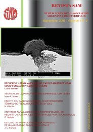 REVISTA SAM - Asociación Argentina de Materiales