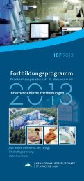 Fortbildungsprogramm 2013 - St. Vincenz Krankenhaus Limburg