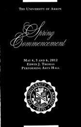 Spring 2012 Commencement Program - The University of Akron