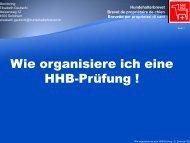 Wie organisiere ich eine HHB-Prüfung ! - Hundehalterbrevet