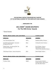 AWARD RECIPIENTS For The 54th Emmy - Washington Post