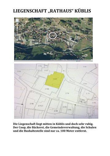 """LIEGENSCHAFT """"RATHAUS"""" KÜBLIS - newhome.ch"""