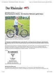 www.rheintaler.ch – René Burkhard in Küblis: «Ein ... - VELOHANGAR