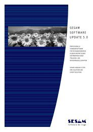 Sesam NT: Neues in der Version 5