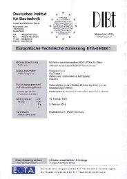 Europäische Technische Zulassung KEM-UP Option 1 - Etanco