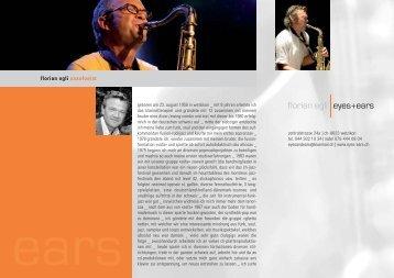 florian egli saxofonist - florian egli, eyes + ears