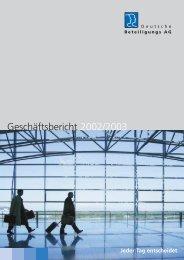 Geschäftsbericht 2002/2003 - Deutsche Beteiligungs AG