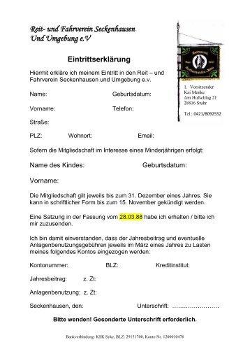 Reit- und Fahrverein Seckenhausen Und Umgebung eV - Reitverein ...
