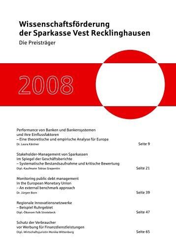Wissenschaftsförderung der Sparkasse Vest Recklinghausen