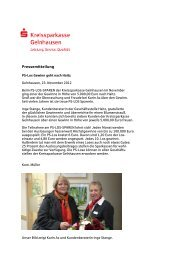 Pressemitteilung - Kreissparkasse Gelnhausen