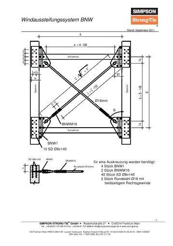 bmf windaussteifungssystem 40 60 simpson strong tie. Black Bedroom Furniture Sets. Home Design Ideas